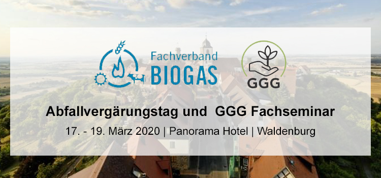 Abfallvergärungstag und GGG Fachseminar 2020
